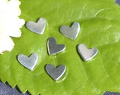 Nickel Silver Tiny Lopsided Heart 7mm x 6mm 20g Metal Blanks Shape Form for Enameling Stamping Texturing Blank