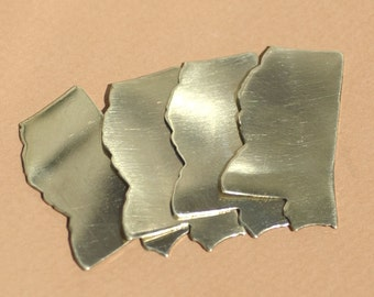 Brass or Bronze Mississippi State Blanks Cutout for Metalworking Stamping Texturing 100% Brass Blank