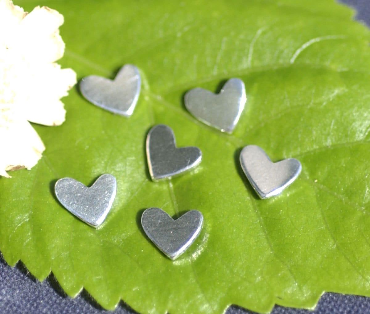 Nickel Silver Tiny Lopsided Heart 7mm X 6mm 20g Metal