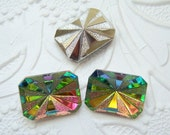 2 -18x13mm vitrail medium rivoli star burst octagon glass rhinestones - CM150