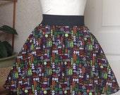 CLEARANCE Elastic Gathered Skirt - Halloween Size Large