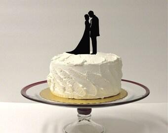 MADE In USA, Beautiful Silhouette Wedding Cake Topper Bride and Groom Silhouette Wedding Cake Topper Bride and Groom Cake Topper