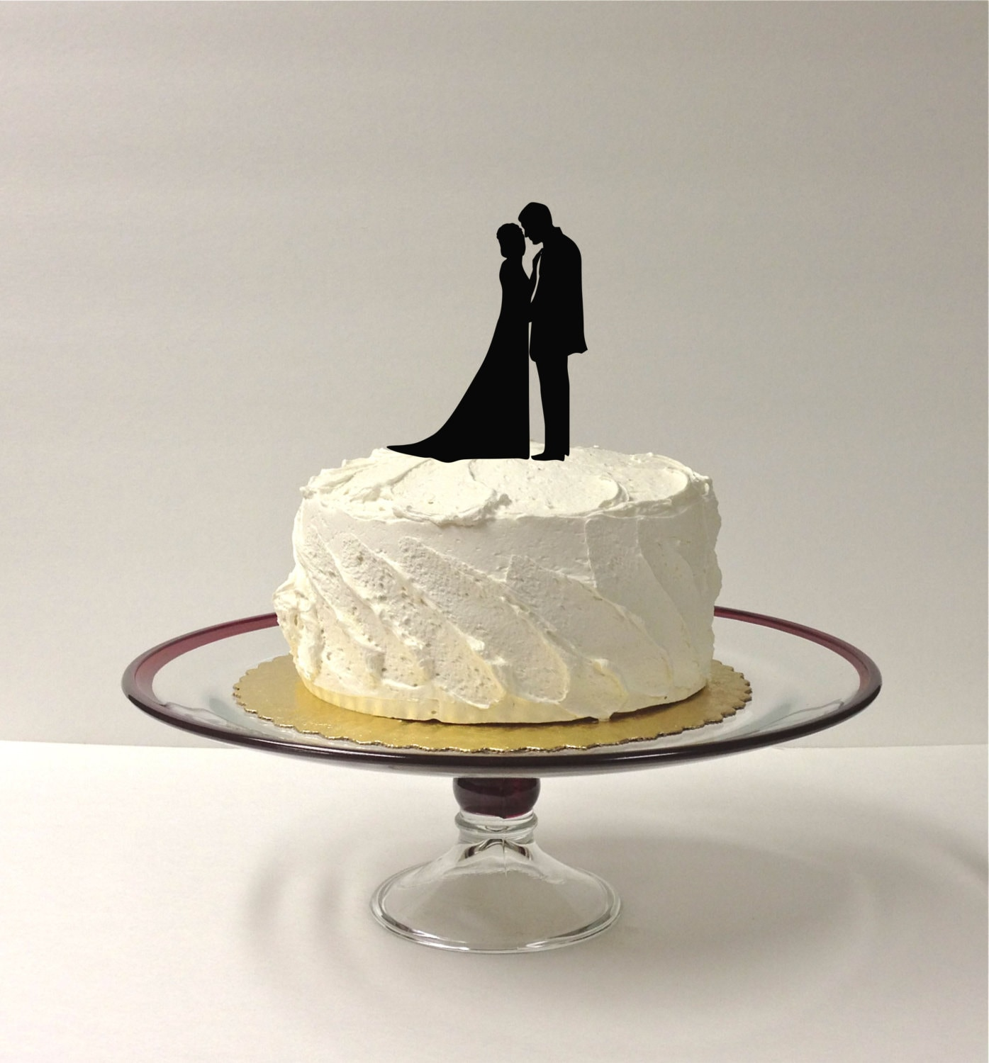 MADE In USA Beautiful Silhouette Wedding Cake Topper Bride