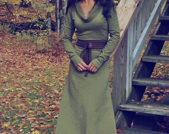 Organic Clothing - Tibetan Women Mountain Dress ( Organic  fleece )