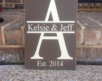 Last Name Sign ~ Family Name Sign ~ Last Name Established Sign ~ Last Name Wedding ~ Wedding Gift ~ Bridal Shower Gift ~ Engagement Gift
