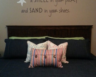 May you always have a shell in your pocket sand 55x28 Vinyl Wall Decal Decor Wall Lettering Words Quotes Decals Art Custom