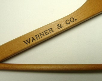 Warner & Co Baltimore Wood Hanger Vintage Hats Menswear
