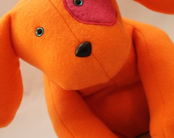 Orange Sherbert the Stuffed Dog