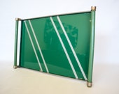Gorgeous Mid Century Serving Tray Emerald Green