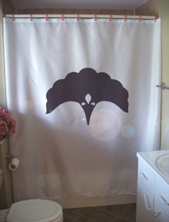 art deco nouveau fan Shower curtain design emblem classic golden age ...