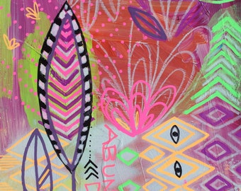 AbunDance Original Mixed Media Painting