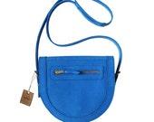 LA LISETTE / Handmade 'Marge Zig Zag bag' / Primary Blue / Women Bags / Leather Bag / Leather Purse / Leather Shoulder Bag / Lady's Handbags