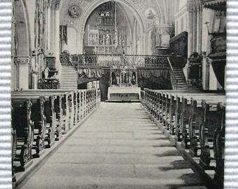 Chur Cathedral, Graubünden, Switzerland - Unused Vintage Postcard