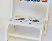 Blue Whales and Fishes Personalized Child's Stool