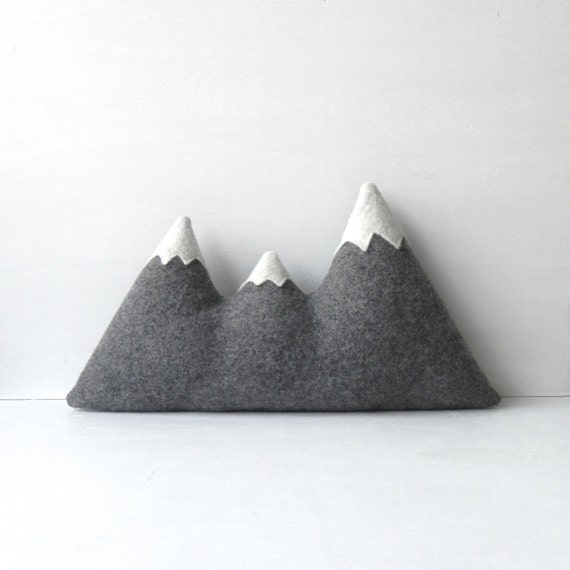 the sisters original woolen mountain pillow made to order. Black Bedroom Furniture Sets. Home Design Ideas