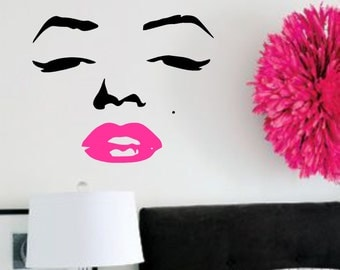Vinyl Wall Decal- Marilyn Monroe- Vinyl Wall Quotes Lettering