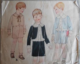 McCall 2323 boys sz 2 Bolero Suit Sewing Pattern