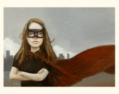 Feeling Super. Signed Print of an Original Oil Painting