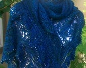 Pattern Only Like a Diamond in the Sky Triangular Lace Shawl or Shawlette