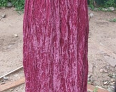 Southwestern style purple crushed velvet skirt
