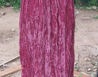 Southwestern style purple crushed velvet skirt