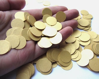 gold confetti wedding confetti  paper circles wedding decorations  wedding table decorations  paper circles decorations  die cut circles