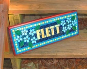 Custom Personalized Mosaic Sign / Plaque - Name, Address, Save the Date - Indoor / Outdoor Signs
