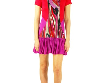 Women's Alana Colorblock Abstract Print Mini Dress
