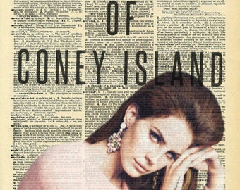 Lana Del Rey Queen of Coney Island Dictionary Art