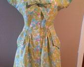 vintage inspired floral day dress
