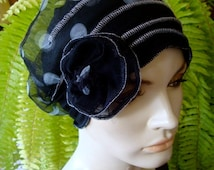 chemo hats chemo soft hat chemotherapy hat chemo gift alopecia soft hat black and white