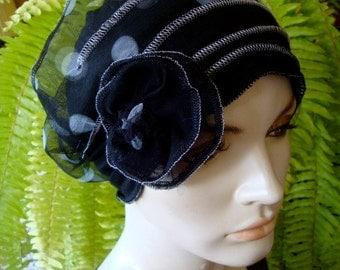 chemo hats chemo soft hat chemotherapy hat chemo gift alopecia soft hat black and white