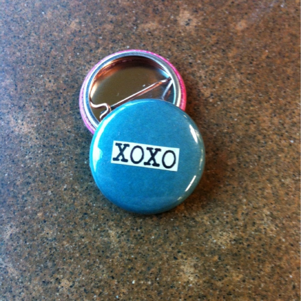 xoxo collage pinback button magnet zipper pull mirror. Black Bedroom Furniture Sets. Home Design Ideas
