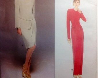 Vogue Tom and Linda Platt American Designer Sewing Pattern Misses Dress1996 Uncut Size 6-8-10