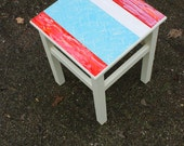 ZIZO art stool handpainted furniture