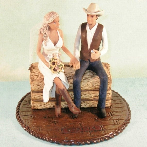 country couple wedding cake topper items similar to country western wedding cake topper with 12979