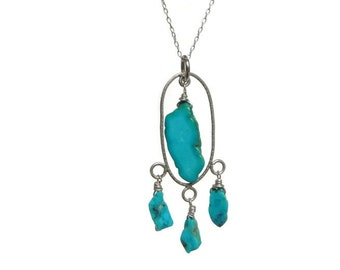 Sleeping Beauty Turquoise pendant necklace