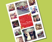 Have Your #Selfie A Merry Christmas Instagram holiday photo card - Personalized Printable File or Print Package Available - #00055-HCA7