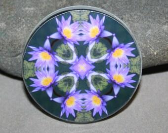 Lotus Flower Magnet Zen Boho Chic Mandala New Age Sacred Geometry Hippie Kaleidoscope Lily Liscio