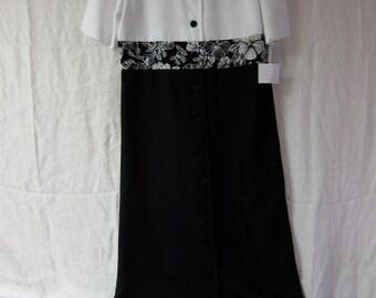 Black and White Vintage Dress