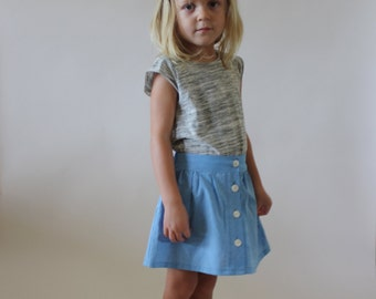 NEW Boardwalk Skirt / PDF sewing pattern / Children's sizes 2T to 6 years / Instant download