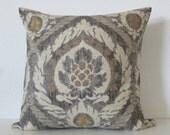 Ballard Designs Scandicci Gray antique damask decorative pillow cover