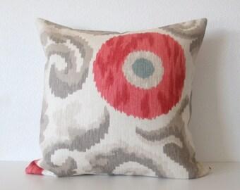 Tania Misty Rose suzani ikat decorative throw pillow cover