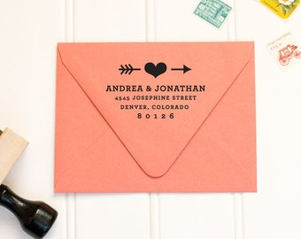 Personalized Rubber Address Stamp by Paper & Parcel - No. 11b
