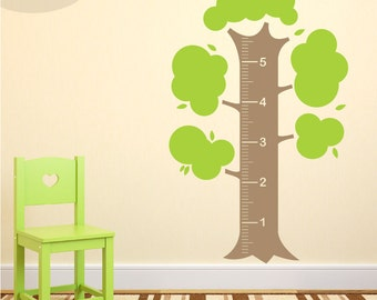 Measurement Tree - Vinyl Wall Decal