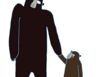 Daddy bear- fathers day card