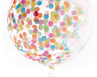 "Confetti Balloon / Jumbo Multicolor 36"" Balloon / As Seen on Today Show"