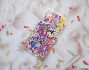 Vintage Lisa Frank 90s Glitter iPhone Samsung Galaxy Unicorn Rainbow Cat Case