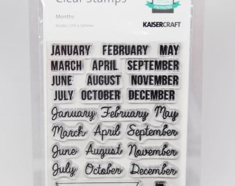KaiserCraft Months Captured Moments Collection Clear Stamps -- Acrylic -- Months