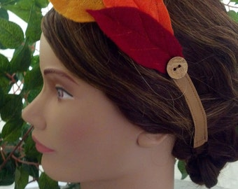 Autumn Felt Leaf Headband